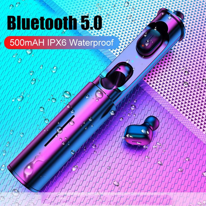 <font><b>Mini</b></font> <font><b>T1</b></font> <font><b>TWS</b></font> <font><b>V5.0</b></font> <font><b>Bluetooth</b></font> <font><b>Earphone</b></font> <font><b>3D</b></font> True Wireless Stereo Earbuds With Mic Portable HiFi Deep Bass Sound Cordless Dual Headset image