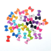 50Pcs 11x7mm Resin Bows Crafts Decorations Flatback Cabochon Scrapbooking For Embellishment Nail Stickers Accessories(China)