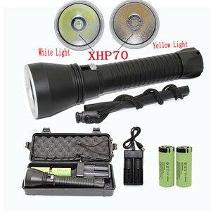 Водонепроницаемый фонарик XHP70 4200LM для подводного плавания XHP50 светодиодный подводный фонарик для подводной вспышки фонарь для дайвинга ...