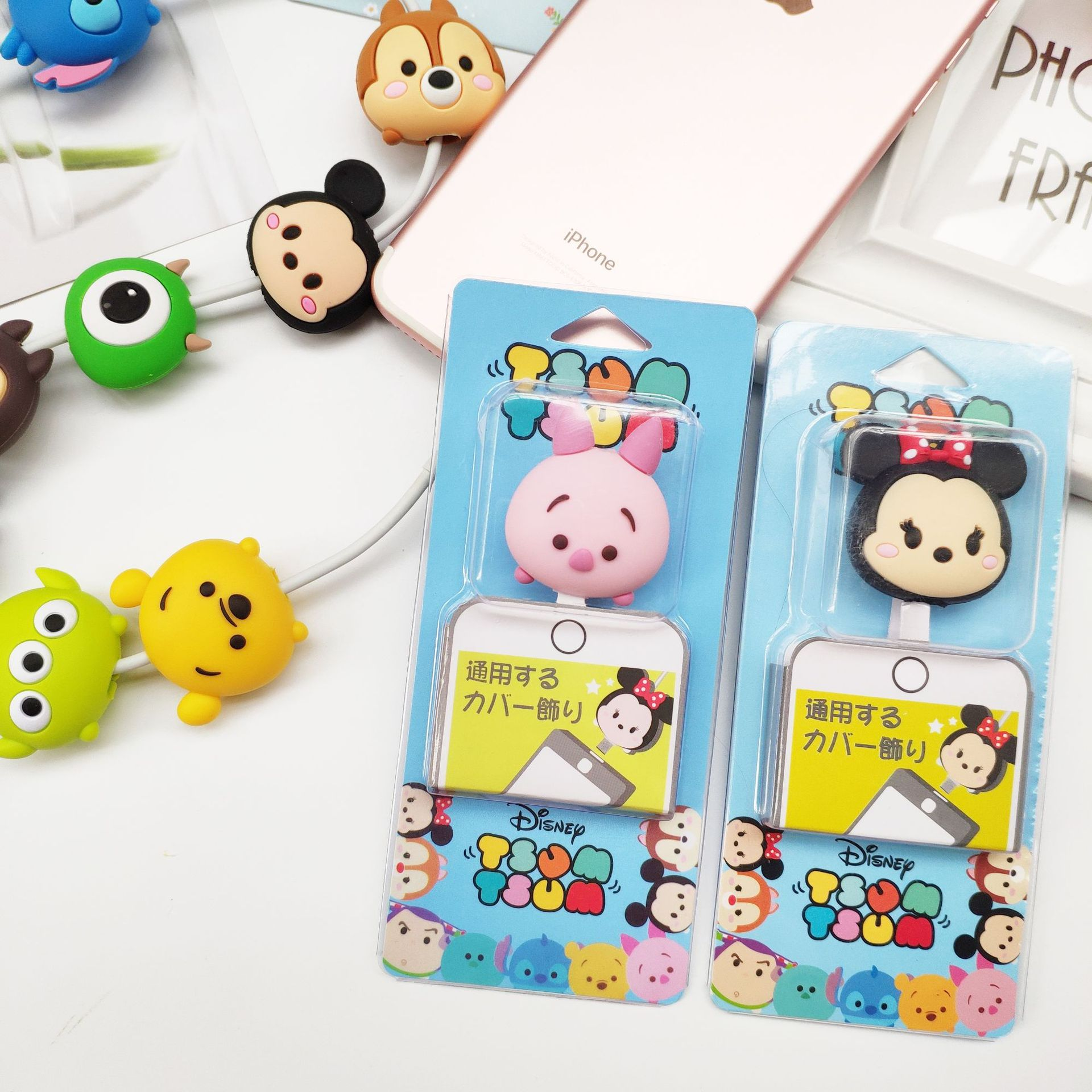 for iPhone XS MAX 8 6 7 Plus 5 5S X XR USB Cable Animal Pig Bites USB Charger Da