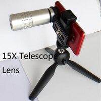 1 Pcs Haute Qualité HD 15X Téléobjectif Télescope Lentille pour Samsung Galaxy s5 s6 s7 bord Téléphone Caméra avec Clip En Gros stand de Support