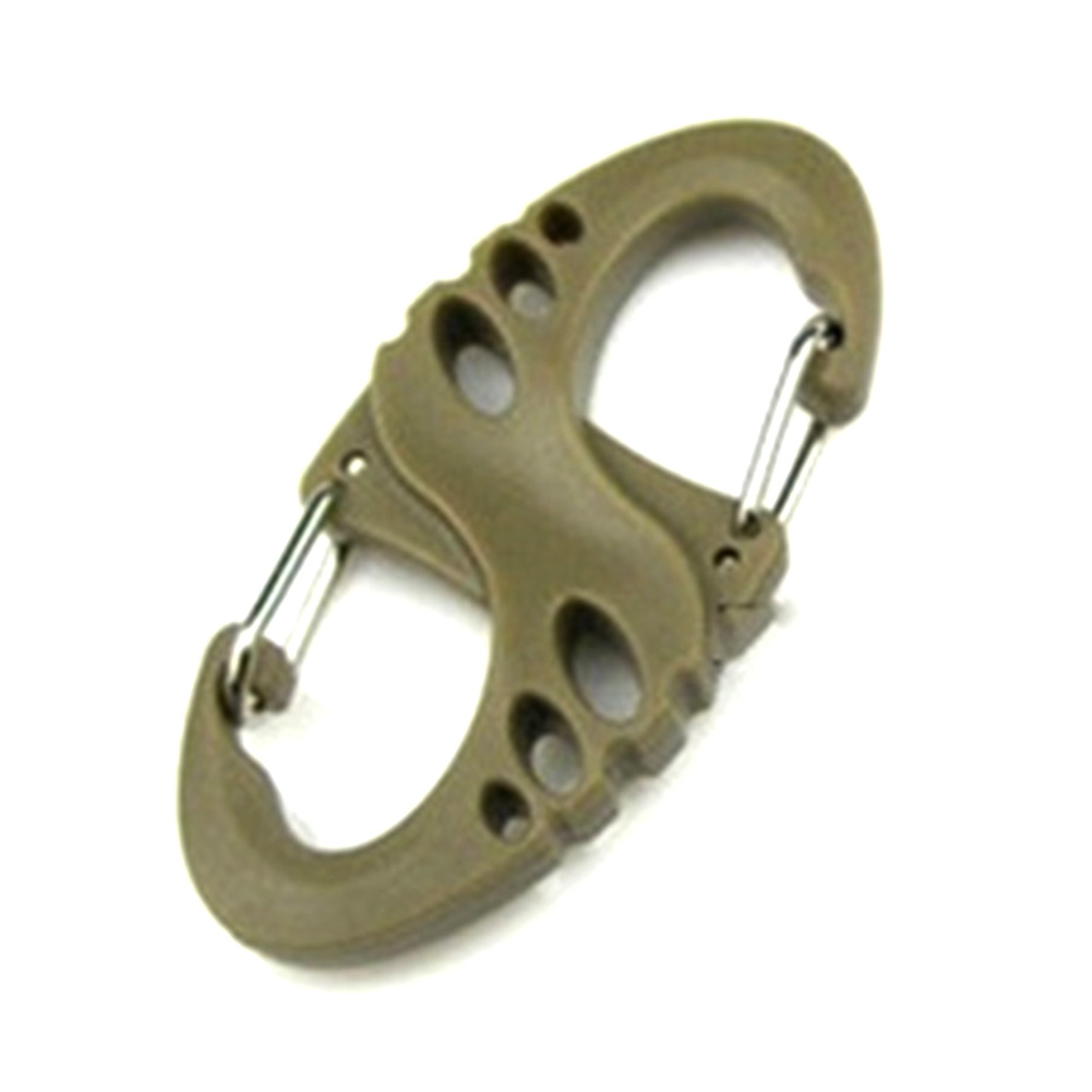 8 Type Hollowed-Out Style Backpack Lifting Buckle Plastic Steel Climbing Carabiner Outdoor Camping Accessories Climbing Hook