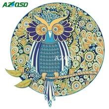 AZQSD Алмазная картина с изображением животных, стразы особой формы, мозаика, алмазная вышивка, Сова, 44x44 см