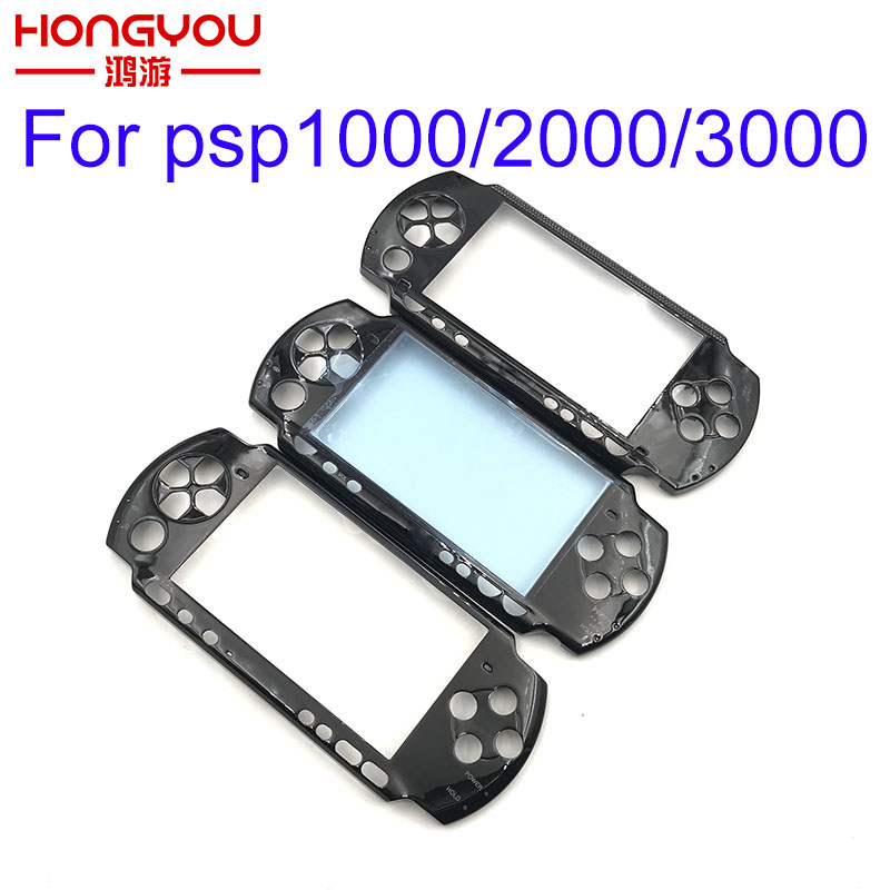 Black Front Faceplate Shell Case Cover Proctector Replacement For Sony PSP 1000 2000 3000Black Front Faceplate Shell Case Cover Proctector Replacement For Sony PSP 1000 2000 3000