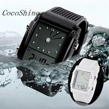 CocoShine A-969  Fashion Unisex Womens Mens Digital Led Chronograph Quartz Sport Wrist Watch wholesale