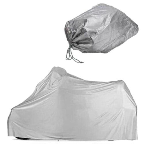 Waterproof Motorcycle Garage tarpaulin tarpaulin motorcycle cover 246 * 105 * 127 cm / Size XL Silver