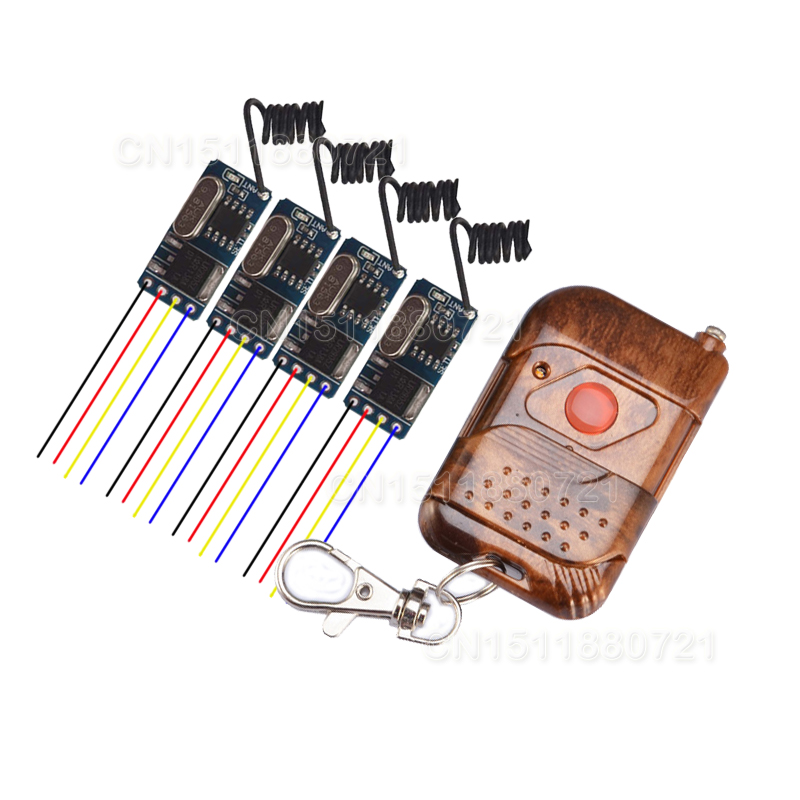 DC3.6V 3.7V 4.5V 5V 6V 7.4V 9V 12V RF Remote Controller Wireless Receiver RX Transmitter TX Light LED Lamp Power Remote ON OFF relay remote controller dc4v 4 5v 5v 6v 7 4v 9v 12v wireless relay switch 10a normally open close power remote on off rf rx tx