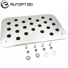 цена Universal Aluminium Antiskid Foot Floor Carpet Mats Pads Pedal With Bolts For All Jaguar XJ XK J F X XF Series Foot Pedal Floor онлайн в 2017 году