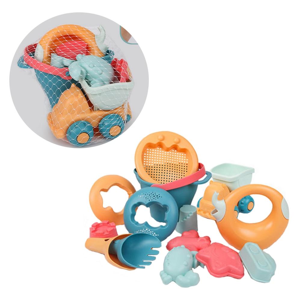 Kids Sand Toys Sand Water Wheel Beach Molds Beach Bucket Beach Shovel Tool Kit Sandbox Toys Outdoor Toys For Toddlers Kids 14pcs