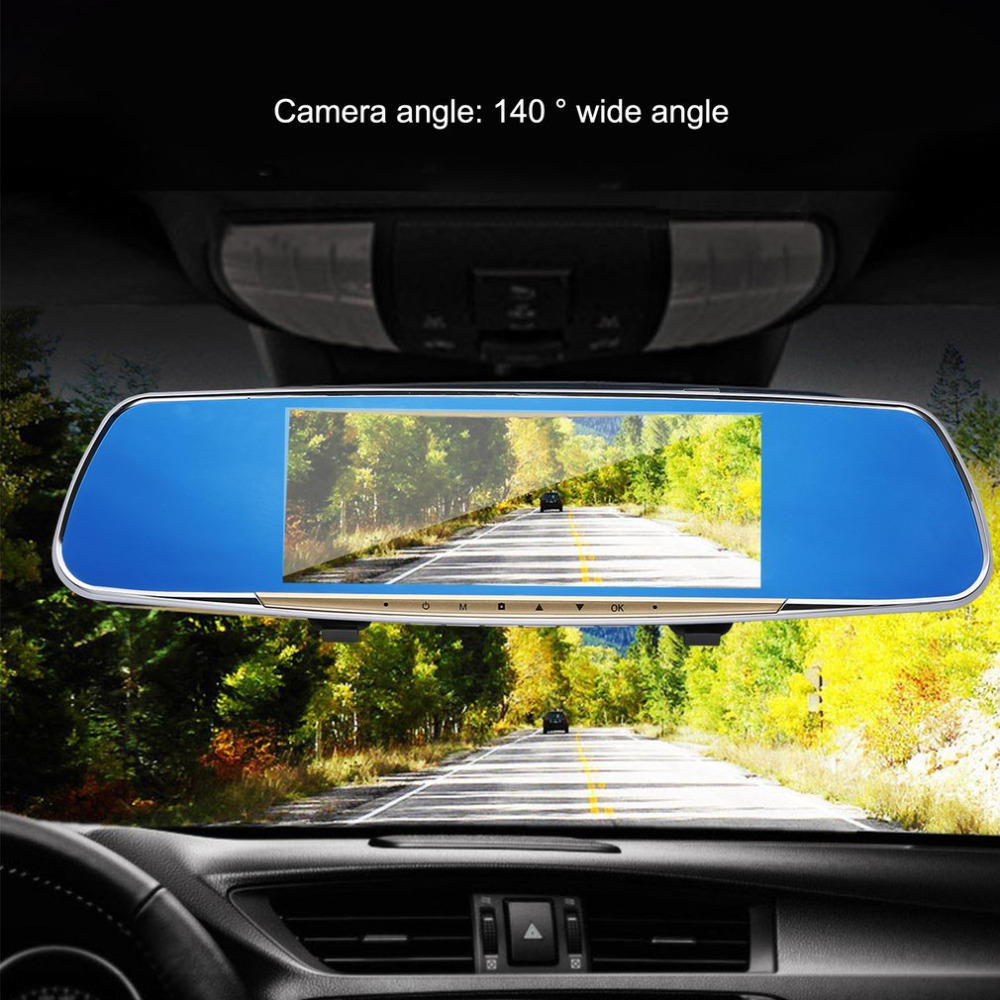 7inch car Data Recorder GPS Navigation Rear camera Detection Cycle Recording Wide Angle HD Rear-view Mirror Vehicle Traveling h80b high quality car screw holder for automobile data recorder gps camera black