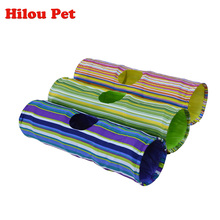 Cat Toys Crinkle Multicolor Cat Tunnel 90cm Length Puppy Kitten Toys Collapsible Funny Rabbit Tunnel Products for Animals