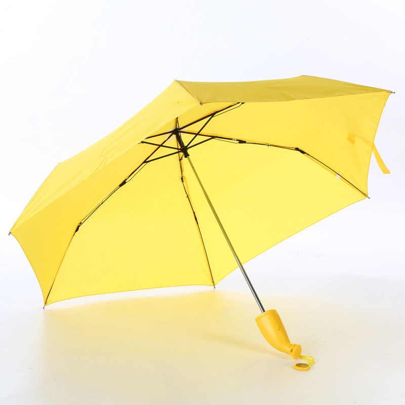 די מטריית בננה מטריית גשם ושמשייה לנשים כמו חידוש ילדים מתנות הגנת Windproof מתקפל מטריית שמשייה