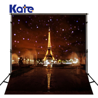 5X7FT Kate Dark Brown Eiffel Tower Photography Backdrops Night City Backdrops Scenic Photography Backdrops for Children