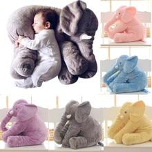 купить Cartoon Big Size Plush Elephant Toy Kids Sleeping Back Cushion Stuffed Pillow animal Doll Baby Doll Birthday Gift for children онлайн