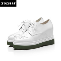 Zorssar 2018 Spring New Fashion Casual Lace Up Womens Shoes Pumps Height Increasing Platform Wedges