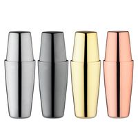 Premium Boston Cocktail Shaker Weighted Shaking Tins, Gold Plated / Copper Plated, Black / Mirror Finish, Premium Barware Tools