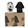2017 2 pçs/lote 10 CM Q Estilo Star Wars starwars Darth Vader & STORM TROOPER Action Figure Modelo Brinquedos infantis presente de aniversário