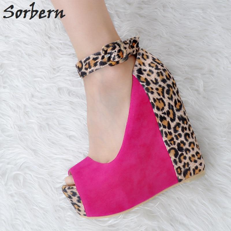 Peep Customer Femmes Sorbern Talons Nouveau Plus Plate La Toe Sandales forme Pour Coins À Service Boucle De Rouge Pompes Sangle Hauts Taille rose Chaussures Dames w1qrqdvI