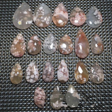 Natural cherry agate high ice cherry stone floating flower color drop pendant pendant wholesale стоимость