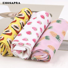 [Eioisapra] impressão de frutas abacaxis design meias femininas moda criativa arte meias reto meias harajuku japão calcetines mujer