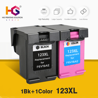 2 pcs ink Replacment For HP 123 123XL Black Ink Cartridge For HP Deskjet 2130 1110 Printer IP123 for Russian version