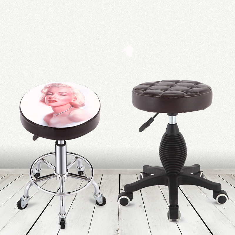 Multifunction Salon Chair Lifted Cosmetology Makeup Chairs Ergonomics Leisure Bar Chair Rotated Manicure And Haircut Stool