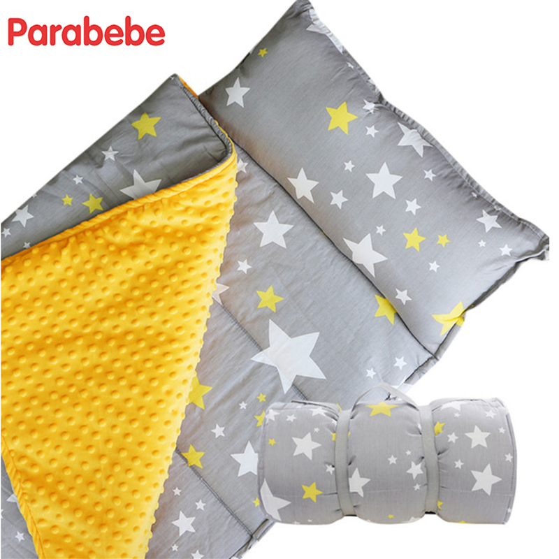 118X68CM Baby Sleeping Bag Soft travel quilt Pure Cotton Quilt Sleep Sack For Children Portable Sleepsack 3IN1 child nap mat