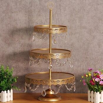 1 pcs gold 3 tiers wedding party ,tea room Supplies