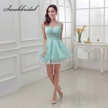 New Arrival Short Mint Homecoming Dresses with Lace Beading