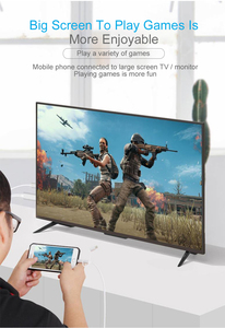 Image 4 - USB หญิงถึง HDMI Adapter, ปลั๊กแปลงสายสำหรับ iPhone iPad มาร์ทโฟนแท็บเล็ต HDMI HDTV