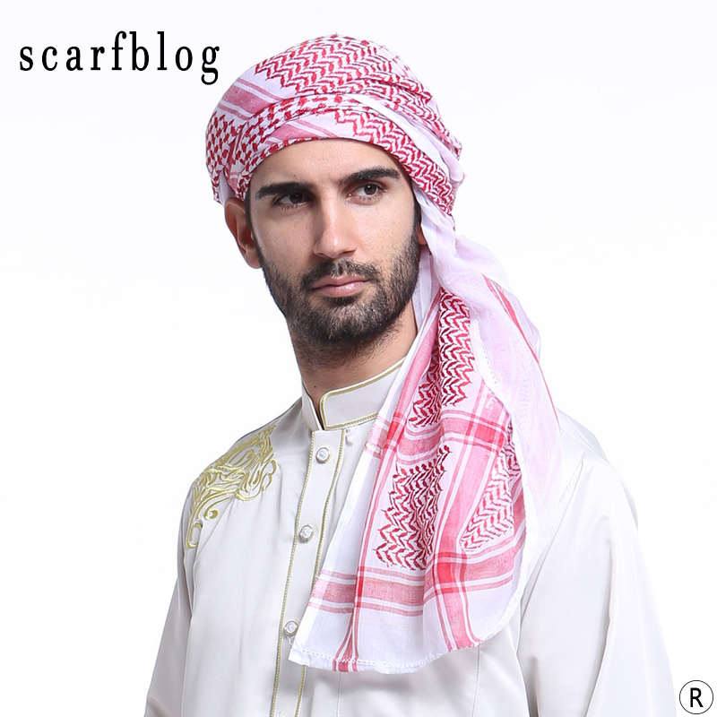 Scarfblog Turban musulmaņu ģeometriskais vīriešu galvas lakats - Apģērba piederumi