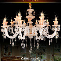 6, 8, 15 arms crystal marble high quality crystal chandeliers, with E12/14 lamp;s holders. 100% quality guaranteed.