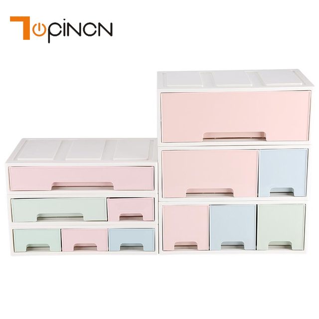 Us 6 73 41 Off Creative Plastic Storage Cabinets With Drawers Drawer Divider Makeup Organizer Desktop Holder Jewelry Box Sundries Container In