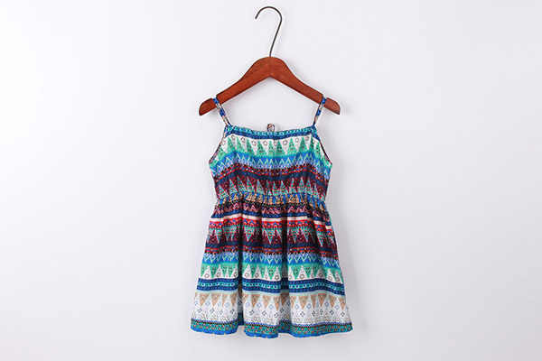 b53553eb9dbf ... For 6 8 10 12 14 Years Girls summer clothes beach Bohemia Style Floral  Print cotton ...