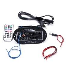 40 W سيارة بلوتوث مضخم صوت مرحبا فاي باس مكبر للصوت مجلس الصوت TF USB 220 V/12 V/24 V