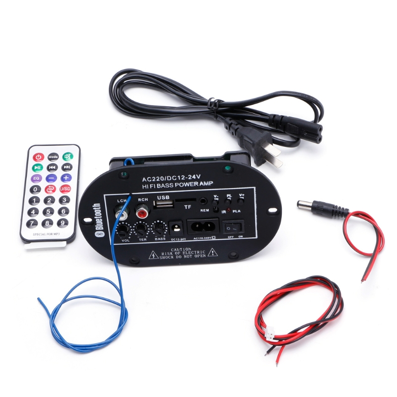 40W Car Bluetooth Subwoofer Hi Fi Bass Amplifier Board Audio TF USB 220V/12V/24V-in Bluetooth Car Kit from Automobiles & Motorcycles