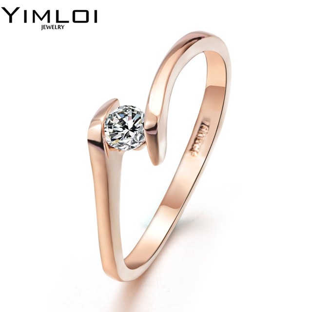Hot Wedding Ring 7mm Round CZ Silver Color Luxury Eternity Rings Bands Jewelry f