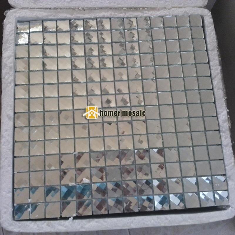 16 fronte diamante mosaico di colore argento diamante piastrelle ...