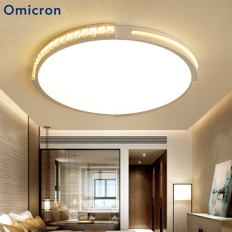 Omicron Modern LED Ceiling Lights AC 90V-260V For Living Room Round Lustres Plafoniera LED Dimmer Ceiling Lamps Bedroom LuminarOmicron Modern LED Ceiling Lights AC 90V-260V For Living Room Round Lustres Plafoniera LED Dimmer Ceiling Lamps Bedroom Luminar