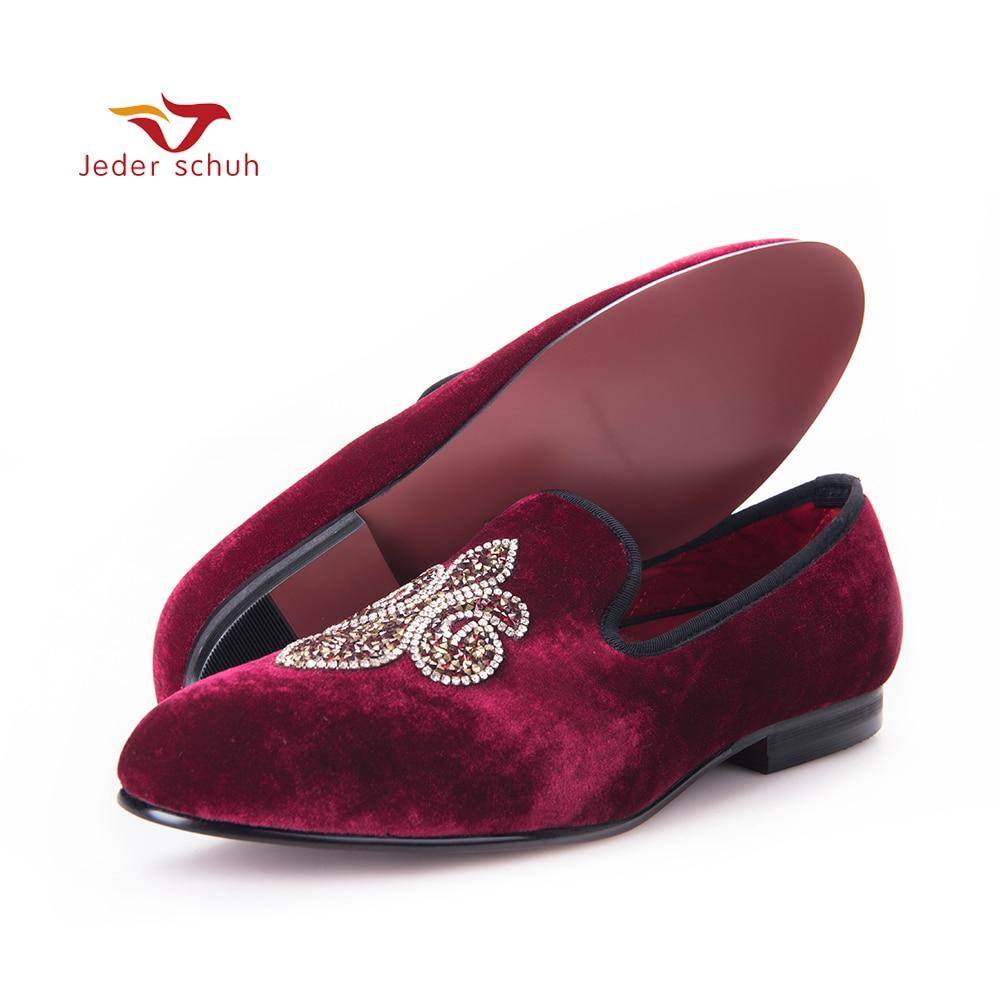 2017 casual fashion High-end custom Rhinestones Special Shape Smoking Slipper Loafer Men Flats shoe Size US 6-16 Free shipping 2017 high quaitily casual fashion 014