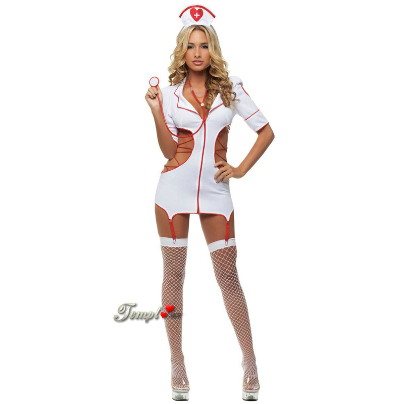 Hot Women Hollow Sexy Nurse Costumes Sexy Lingerie Exotic Apparel Temptation Clubwear Porn Dresses Nightwear Sexual Clothing