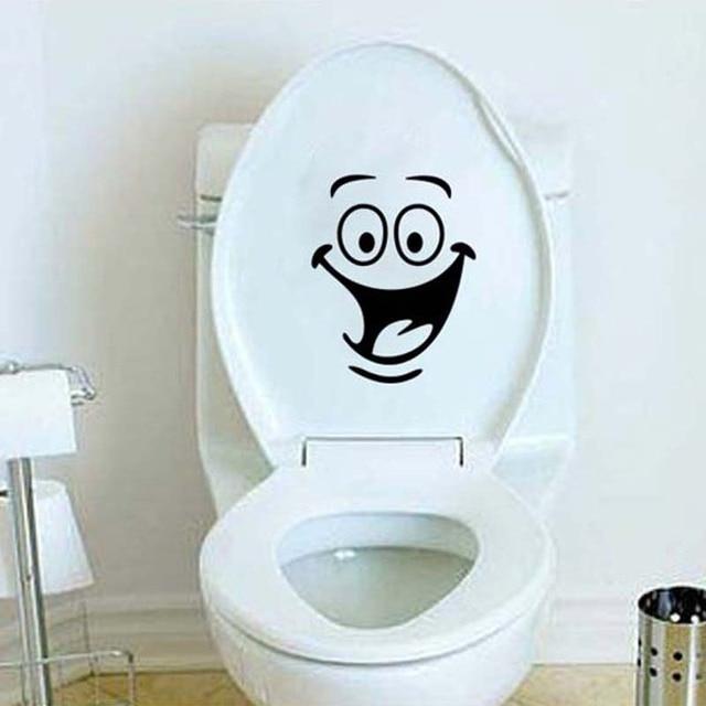 US $1.05 5% OFF|WC Kinderzimmer Vinyl 3D Wandaufkleber Auf Der Toilette  Wandtattoos Lustige Badezimmer Dekor Dekoration Kreative Wc Aufkleber für  in ...