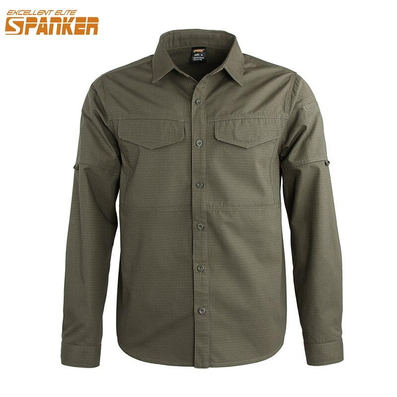 Excellente élite SPANKER hommes armée chasse Cargo mince manteau séchage rapide à manches longues chemises pour l'assaut tactique militaire en plein air