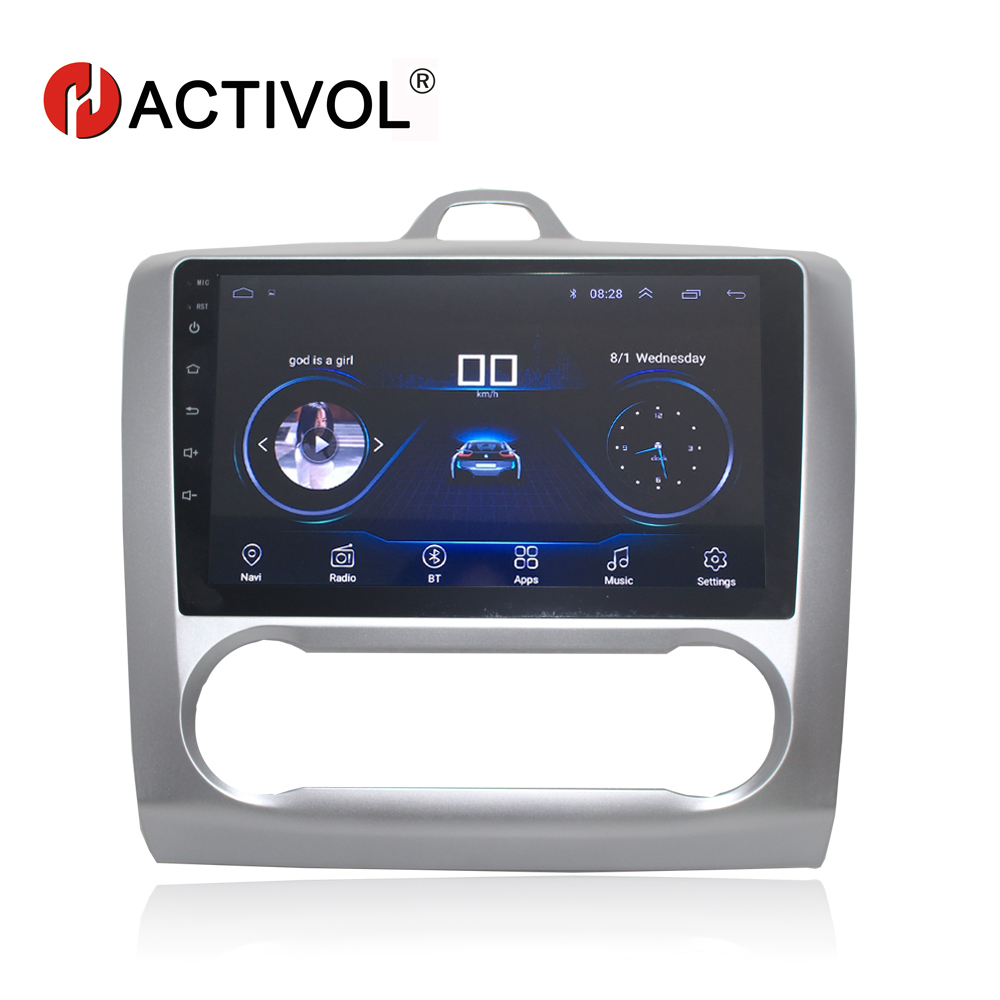 HACTIVOL 2 din 9 Android 8 1 car dvd Multimedia for Ford Focus 2 2005 2011