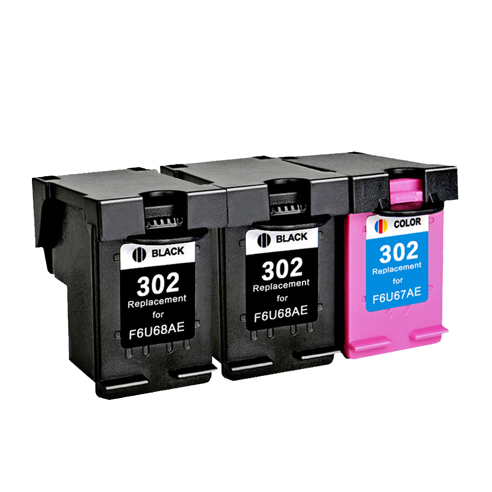 YLC 3pc 302XL Compatible For HP302XL ink cartridges for HP Deskjet 1110 1111 1112 2130 2131 2132 3630 printer hwdid 56xl 57xl ink cartridge compatible for hp 56 57 c6656a c6657a deskjet 450ci 5550 5552 7150 7350 7000 2100 220 printer