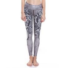 New 2017 Casual Women Leggings Floral 3D Digital Printed Skinny Slim Stretchy Fitness Leggings Jegging Pencil Pants Trousers