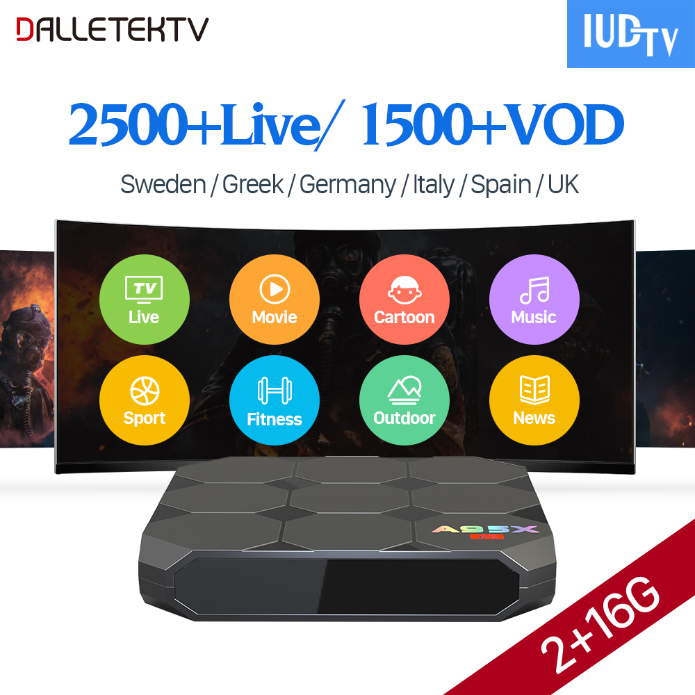 IPTV Europe Box IUDTV IPTV Subscription TV Receivers A95X R2 IPTV Sweden Portugal Turkey UK Germany Italy Spain Albania IP TV