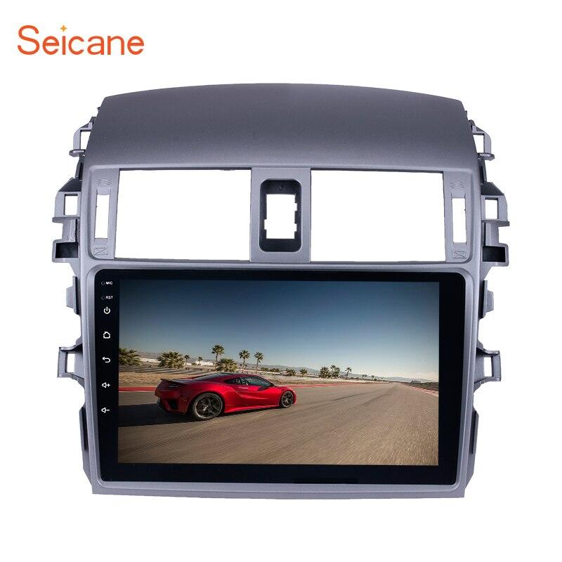 Seicane Android 6,0/7,1 9 2Din автомобиля радио для 2007 2008 2009 2010 Toyota Corolla Старый мультимедийный плеер gps навигации головное устройство