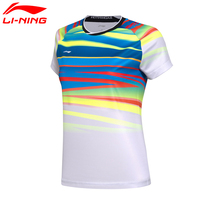 Li Ning Women AT DRY Badminton Shirts Breathable Light T Shirts Competition Top Comfort LiNing Sports