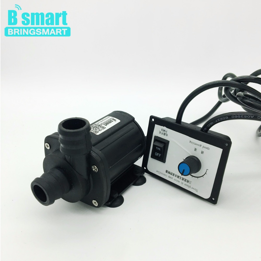 JT-1000A3 Three phase Pump 3000L/H 8M 24V DC Brushless Water Pump Adjustable Speed Pump 12V Booster Pump With Speed Controller bringsmart jt 1000a3 3000l h 7m mini brushless booster pump 12v dc water pump speed controller 24v submersible fountain pump